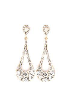 Crystal Lidia Earrings in Gold