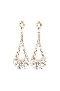 Crystal Lidia Earrings in Gold