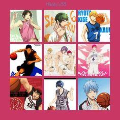 Kuroko no Basket :33  Takao Kazunari, Idorima Shintarou, Kise Ryouta, Aomine Daiki, kise murasakibara akashi, akashi seijuro, Kagami Taiga Tatsuya Himuro and Kuroko Tetsuya :))