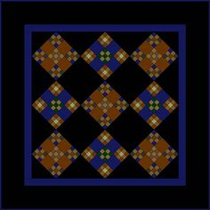 Miniature Amish Double Nine-Patch Quilt Pattern