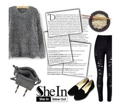 """""""Shein contest"""" by beenabloss ❤ liked on Polyvore featuring Balmain, women's clothing, women, female, woman, misses and juniors"""