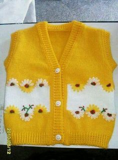 I found great knitting vest idea. Baby Knitting Patterns, Baby Dress Patterns, Knitting For Kids, Crochet For Kids, Knitting Projects, Hand Knitting, Crochet Patterns, Knitting Ideas, Baby Pullover