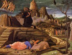 Cristo en el huerto de los olivos, Andrea Mantegna