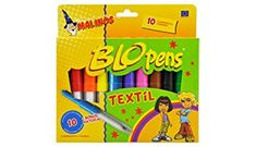 Textile Blo Pens 10 Pens 8 Stencils Dinos