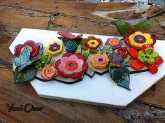 Handmade Hanukkah - חנוכייה פרחונית