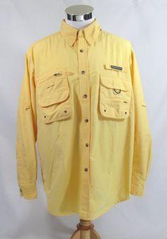 Gander Mountain Men's Fishing Shirt L Long Sleeve Guide Series Pockets Vented #GanderMountain #ButtonFrontShirt
