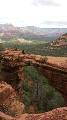 Devil's bridge hiking trail Sedona, AZ. There is a 1 mile dusty & hot walk to the trailhead unless you have 4 wheel drive. Devil's Bridge trail itself is a short moderate hike & offers up amazing views!