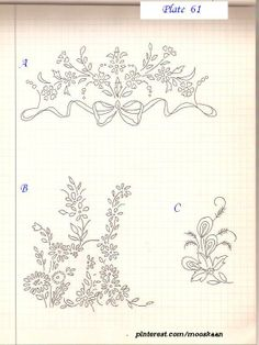 Simple vintage embroidery patterns.... Plate #61