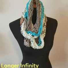Crochet Infinity Scarf using Caron Cakes..cake pop. 2 lengths to choose from :)