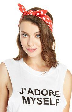 Polka Dot Bow Headband. Shop now at DailyLook!