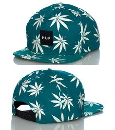 HUF MENS GLOW IN THE DARK PLANTLIFE SNAPBACK CAP Medium Green