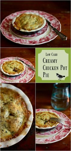 Creamy chicken pot pie is comfort food. This low carb chicken pot pie recipe is stuffed full of tender chicken and vegetables in a creamy…