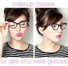 Make up how-to for girls who wear glasses