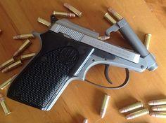Beretta 21A Bobcat pistol in .22LR Find our speedloader now!  http://www.amazon.com/shops/raeind