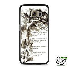 Alice In Wonderland Cheshire Cat Samsung Galaxy S7 Edge Case