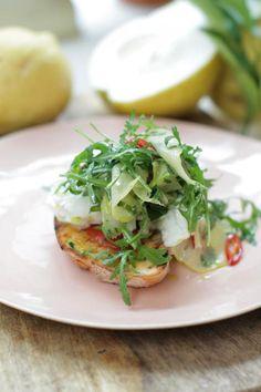 cedro lemon bruschetta | Jamie Oliver  http://www.jamieoliver.com/recipes/fruit-recipes/cedro-lemon-bruschetta