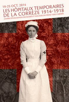 Expo les Hôpitaux de la Corèze 1914-1918  #studioWQ #studiodoublevecu #graphisme #graphicdesign #affiche #poster #graphiste #lorient #graphistelorient