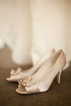 photograph of wedding shoes