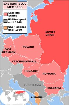 Map of Eastern Bloc Countries