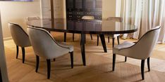 30 Best Oval Tables Ideas You'll Love - InteriorSherpa Circular Table, Oval Table, Dining Room Table, Dining Chairs, White Dining Set, Kitchen Cabinetry, Table Settings, Interior, Architectural Features