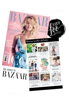 Lucy Loo Littles is featured in this months Issue of Harper's Bazaar! Stylish and comfy kids apparel at www.lucyloolittles.com ❤️