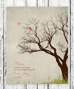 Mother's Day Gift - Personalized Gift for Mom - Mother Verse Art Print - Special Mom Birthday Gift from daughter, kids 8 x 10 print