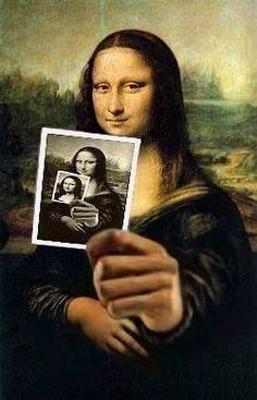 Mona three faces by Teddy Royannez (France) - Elwira Blount Van Gogh, Mona Lisa Drawing, La Madone, Mona Lisa Parody, Mona Lisa Smile, 6th Grade Art, Principles Of Art, Aesthetic Drawing, Italian Artist