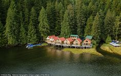 Nimmo Bay Wilderness Resort in British Columbia is so isolated that the hideaway can only ...