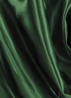 Hunter Green Crepe Back Satin - poly crepe back satin. The finest quality Crepe Back Satin available – Made in Japan. Reversible fabric perfect for brides maid dresses or formal gowns. Loki Aesthetic, Dark Green Aesthetic, Slytherin Aesthetic, Green Satin, Green Silk, Jolie Photo, Green Fabric, Hunter Green, Shades Of Green