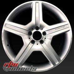 "Mercedes CL550 oem wheels for sale 2008-2009. 19"" Machined rims 85021 - http://www.rtwwheels.com/store/shop/19-mercedes-cl550-oem-wheels-for-sale-machined-silver-85021/"
