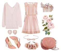 """""""Color of Fashion: Dusty Rose"""" by emma-aleah ❤ liked on Polyvore featuring Rock 'N Rose, RED Valentino, Nina Ricci, Mario Valentino, ALDO, Camilla Christine, Monica Vinader, Ted Baker, contest and contestentry"""