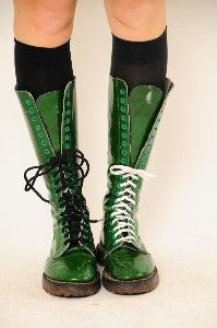 green Dr. Martens. I love these to the point of pain.