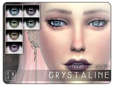 The Sims Resource: Crystaline - Natural Eye Colour by Screaming Mustard • Sims 4 Downloads