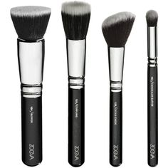 Vegan Brush Set (105 AUD) ❤ liked on Polyvore featuring beauty products, makeup, makeup tools, makeup brushes, beauty, filler, fillers - black, set of brushes and set of makeup brushes