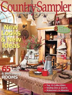 Country sampler winter issue  Great decorating tips