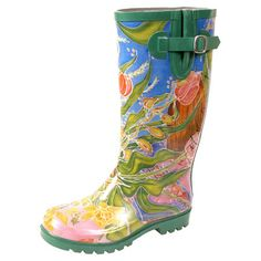 Bring a stylish touch to cloudy days with these charming rain boots, showcasing a rubber outsole and whimsical floral motif.   Prod...