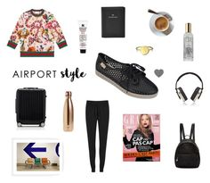 """""""Airport Ready ~"""" by zaxyshoes-co-uk ❤ liked on Polyvore featuring T By Alexander Wang, Gucci, STELLA McCARTNEY, FOSSIL, Kiehl's, Bling Jewelry, Pryma, S'well and Rimowa"""