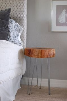Resultado de imagem para rustic bedside tables*hairpin legs