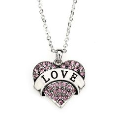 Love Heart Necklace - a sterling silver necklace