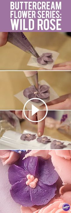 For this lesson in buttercream flowers you will learn how to make the Wild Rose. This buttercream flower is always in style and adds beauty to any cake or cupcake.