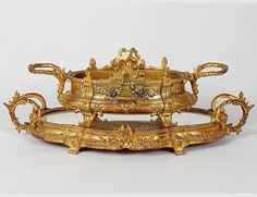 EMPIRE STYLE GILT BRONZE JARDINIERE AND PLATEAU - Auction Gallery of the Palm Beaches   Invaluable