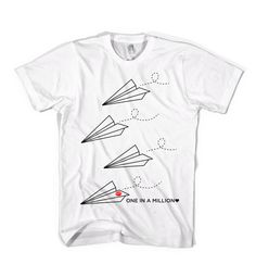 """Inspired by """"Paperman,"""" the awesome short that played before Wreck-It Ralph. """"One in a Million"""" T-Shirt"""
