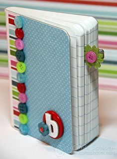 Altered Composition notebook with buttons