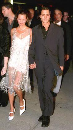 Kate Moss et Johnny Depp à la première d'Ed Wood, le 24 septembre 1994