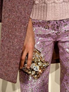 J crew fall 2013 pink and gold brocade