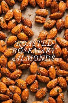 Rosemary Almonds Roasted Rosemary Almonds – perfect little snack / See & SavourRoasted Rosemary Almonds – perfect little snack / See & Savour Paleo Recipes, Snack Recipes, Cooking Recipes, Delicious Recipes, Roasted Almonds, Raw Almonds, Cinnamon Almonds, Pecans, Veggies