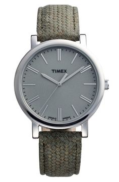 for DPG | Timex® Braid Pattern Leather Strap Watch, 38mm | Nordstrom