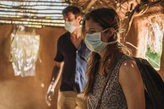 Trevor Rhodes (James D'Arcy) and Melina Danport (Grace Gummer) in a hut where they see everyone but one young boy is sick. James D'arcy, Young Boys, Rhodes, Preston, National Geographic, Sick, Couple Photos, Board, Baby Boys