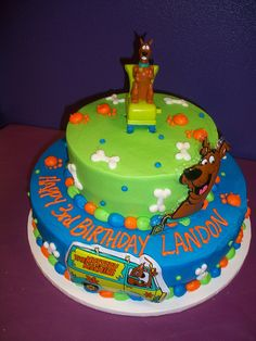 Looks like ScoobyDoo already visited the birthday cake Click for