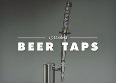 Top 15 Coolest Beer Taps that includes gun tap handle, and deer antlers #beer #beertaps